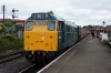 31162 waits departure from Kidderminster with the 1145 Kidderminster - Bridgnorth