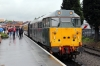 DCR's 31452 waits to depart Kidderminster with the 1105 Kidderminster - Bewdley shuttle