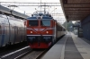Rc1 1007 arrives into Uppsala with 20864 0740 Stockholm - Avesta Krylbo (Special Train for Gavle Railway Museum 100 year Electric event)