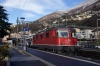 SBB Re420 11128 waits departure from Locarno with IR2268 0847 Locarno - Zurich HB