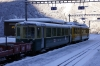 WAB original BDHe 4/4 #119 & a newer BDHe 4/4 EMU near Lauterbrunnen with a ski train