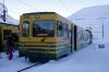 WAB BDHe4/4 # 121 at Kleine Scheidegg after arrival with 343 0837 Lauterbrunnen - Kleine Scheidegg