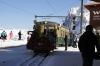 WAB BDhe4/4 #112 arrives at Kleine Scheidegg with a ski train from the Grindelwald direction
