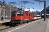 SBB Re420 11164 at Visp with IR1423 1428 Brig - Geneva Airport (vice Re460)