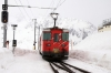 MGB Deh4/4 I #53 heads down from Natschen to Andermatt ecs after working ski train 826 0955 Andermatt - Oberalppass