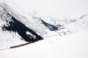 MGB Deh4/4 I #53 heads down from Natschen to Andermatt ecs after working ski train 826 0955 Andermatt - Oberalppass