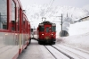 MGB Deh4/4 I #53 arrives at Natschen with 830 1055 Andermatt - Oberalppass ski train