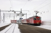 MGB Deh4/4 I #53 departs Oberalppass ecs to Andermatt after arrival with 830 1055 Andermatt - Oberalppass ski train