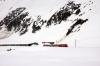 MGB Deh4/4 I #53 departs Oberalppass ecs to Andermatt after arrival with 830 1055 Andermatt - Oberalppass ski train