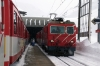 MGB HGe4/4 II #107 arrives at Oberalppass with 831 1114 Disentis - Andermatt