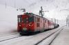 MGB Deh4/4 I # 21 arrives into Natschen with the 1150 Sedrun - Andermatt Autozuge train