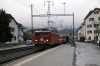 RhB Ge6/6 II #704 arrives into Domat/Ems with 4221 0753 Ilanz - Chur mixed train (2 coaches & 6 freight wagons)
