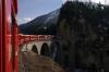 RhB Ge4/4 III #645 approaches Filisur with RE1125 0858 Chur - St Moritz