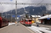 RhB Ge4/4 II #631 arrives at Klosters Platz with RE1233 0844 Disentis - Scuol-Tarasp