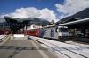 RhB Ge4/4 III #649 departs Klosters Platz with RE1037 1147 Landquart - Davos Platz
