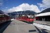 RhB Ge4/4 II #625 arrives at Klosters Platz with RE1237 0944 Disentis - Scuol-Tarasp