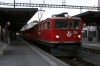 RhB Ge6/6 II #706 at Chur after arrival with 4221 0753 Ilanz - Chur mixed train (2 coaches & 6 freight wagons)