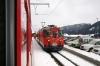 RhB Deh4/4 I #21 at Sedrun with the 1150 Sedrun - Andermatt car train
