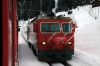 MGB HGe4/4 II #107 at Dieni with 902 0852 Zermatt - St Moritz Glacier Express Train