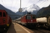 SBB Re420 11158 arrives into Erstfeld with IR2268 0847 Locarno - Zurich HB