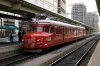 SBB RAe 4/4 #1021 stands in Platform 51 at Zurich HB being used as a restaurant and marketed at the station as Bar at Gleiss 51