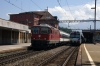SBB Re4/4 11116 departs Arth Goldau with IR2176 0947 Locarno - Basel