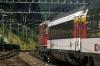 SBB Re4/4 11116 departs Arth Goldau with IR2176 0947 Locarno - Basel