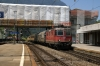 SBB Cargo Re4/4 11296 runs through Arth Golda with a freight