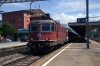 SOB hired SBB Cargo Re4/4 11317 (SOB Re446 446015 rear) departs Arth Goldau with Voralpen Express VAE2418