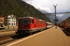SBB Re4/4 11111 arrives into Erstfeld with IR2276 1247 Locarno - Zurich HB