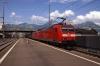 DB 185's 185123/100 run through Brunnen with a freight