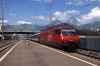 SBB Re460 460090 arrives into Brunnen with IR2177 1404 Basel - Locarno