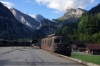 BLS Re425 164 departs Kandersteg with a car train for Goppenstein