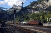 BLS Re425 162 at Kandersteg with a car train for Goppenstein