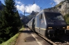 BLS 465002/010 run through Kandersteg with a freight