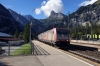 Crossrail's 185590/601 run through Kandersteg with a freight