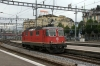 SBB Re4/4 11215 drops onto IR2170 0711 Chiasso - Basel at Luzern after 11198 had worked the train in