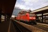 DB 185's 185129/097 run through Arth Goldau with a freight