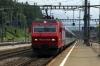 SOB Re456 456093 T&T with 456094 rear arrive into Arth Goldau with Voralpen Express VAE2416 1105 St Gallen - Luzern