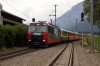 RhB Ge4/4 III #648 arrives into Cazis with RE1124 0802 St Moritz - Chur