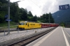 RhB Ge4/4 III #644 arrives into Tiefencastel with RE1128 0902 St Moritz - Chur