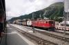 RhB Ge6/6 II #702 at Samedan with 5140 1040 Pontresina - Landquart freight