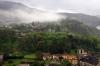 Montebello (lower) & Sasso Corbaro Castles from Castelgrande, Bellinzona
