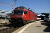 SBB Re460 460102 waits departure from Schaffhausen with IR2571 1118 Schaffhausen - Zurich HB