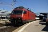 SBB Re460 460102 waits departure from Schaffhausen with IR2571 1118 Schaffhausen - Zurich HB