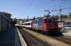 SBB Re 4/4 II (Re421) 421392 arrives Schaffhausen with IC280 1105 Zurich HB - Stuttgart