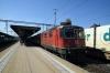 SBB  Re 4/4 II (Re420) 11204 arrives into Lenzburg with IR1781 1447 Basel - Chur
