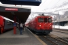 MGB Deh 4/4 II #92 at Andermatt waiting departure with 546 1308 Visp - Goschenen