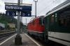 SBB Re 4/4 II (Re420) 11121 at Bellinzona leading IR2155 0818 Bellinzona - Locarno; Re 4/4 II 11301 is on the rear of the train