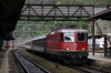 SBB Re 4/4 II (Re420) 11210 arrives Bellinzona with IR2267 1009 Zurich HB - Locarno
